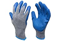 This bulk pack of reusable knit work gloves are perfect for people who always need a pack of durable work gloves in hand. These latex dipped gloves are handy for construction, warehouse work, gardening, mechanic work, moving, landscaping, taking out ...