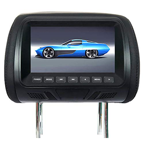 Clenp Kopfstütze Video, 7 Zoll DC12V Auto LCD Digitalanzeige HD Kopfstütze Monitor Rücksitz Unterhaltung Mit Fernbedienung Schwarz