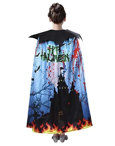 Disfraz de bruja de bruja para nios y nias con estampado de vampiro, disfraz de terror, disfraz de disfraz de disfraz para cosplay o disfraz de fiesta para Halloween, carnaval