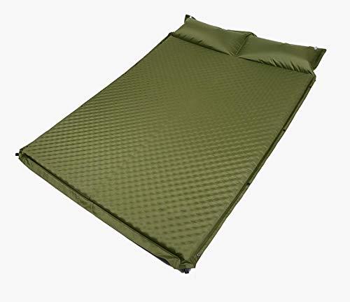 Colchón Inflable para Dormir para Acampar Al Aire Libre, Almohadilla De Cojín Automática Gruesa, Carpa para Exteriores, Colchonetas para Acampar, Cama Inflable Doble, Verde Militar
