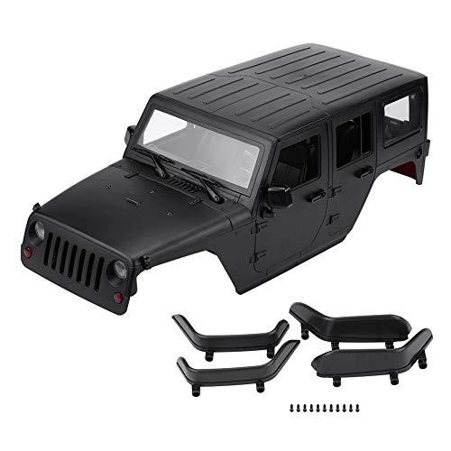 Dilwe RC Auto Karosserie, Ferngesteuertes ModellfahrzeugSchale für Axial SCX10 Jeep Wrangler Crawler( Schwarz)