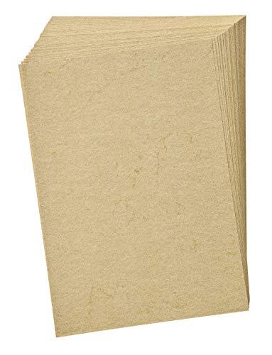 folia 950410 - Elefantenhaut, Urkundenpapier, 50 Blatt, 110 g/qm, DIN A4, chamois - elegantes Papier für Urkunden und Speisekarten