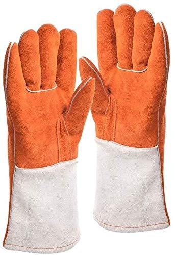 JIAHE115 Mini handschoenen Lassen Handschoenen, Koeienhuid Stof Heavy Duty Hittebestendige Houtbranders Accessoires Barbecue Tuinieren Open haard
