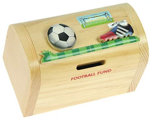Namesakes Fußball : Sparschwein Spardose Kinder : Geschenk für Jungen oder Mädchen : Mini Schatztruhe mit Schloss