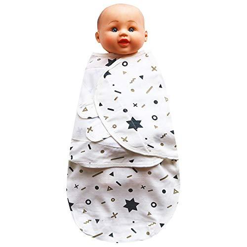 B/H Gigoteuse Fille et Garçon Hiver,Serviette enveloppante Anti-Choc en Gaze pour bébé,Sac de Couchage pour bébé Nouveau-né câlin-Star_L,Hiver Automne Chaud Sac de Couchage
