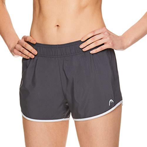 HEAD Women's Athletic Workout Shorts - Tennis Gym Training & Running Short - Ally Medium Grey, Medium