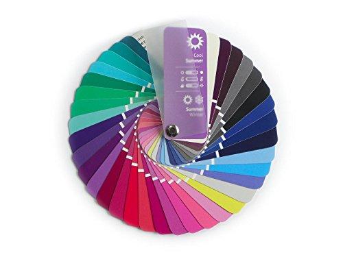 Farbpass Sommer-Winter (Cool Summer) als kleiner Fächer mit 35 typgerechten Farben zur Farbanalyse, Farbberatung, Stilberatung