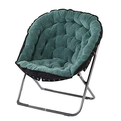 HYY-YY Silla plegable para el hogar y el ocio, taburete grande para adultos, plegable, para adultos, tumbona, desmontable, sofá plegable, silla de camping, (color: verde, tamaño: 70 x 70 x 90 cm)