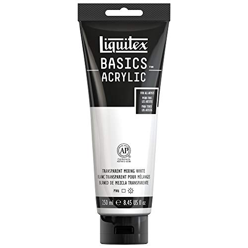 Liquitex BASICS Acrylfarbe, Transparent Mixing White, 8.45-oz tube