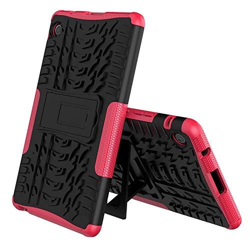 Funda para Huawei Matepad T8 TPU + PC a prueba de golpes Soporte Tablet cubierta para Huawei Kobe2-L09 Kobe2-L03 Mate Pad T 8 T8 caso niños rojo rosa