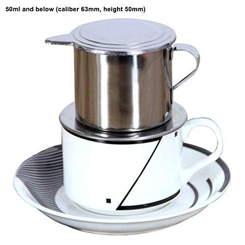 Danigrefinb Keuken Bar Gereedschap & Accessoires 50/100ml Vietnam Stijl RVS Koffie Druppel Filter Maker Pot Infuse Cup 50ml 1 kleur