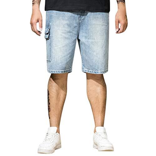 Homme Bermuda Jean Grand Taille Sport Ete Pas Cher Pantalon Court Chic Mode Confortable Casual Tendance Skate Shorts avec Poche