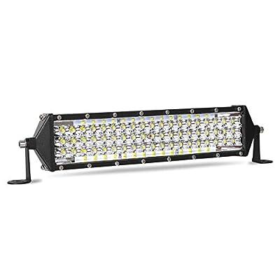 Amazon - 50% Off on 12 Inch LED Light Bar 264W Five Row 26400LM Spot Flood Combo Beam