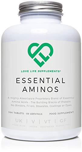 Love Life Supplements - Essenzielle Aminosäuren, 300 Tabletten / 60 Portionen, 5-10 g pro Portion