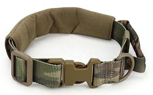 Military Tactical Nylon Verstellbare Hundehalsband Jagd Airsoft Paintball Hund Training Zubehör