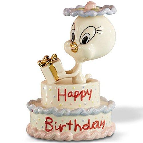 Lenox Tweety's Happy Birthday Cake Figurine Bird Gift Looney Tunes New