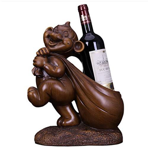 Soporte de botella de vino mono soporte estante de cocina hogar mesa arte decoración animal vino estante decoración decoración interior vino vino titular ornamento decoración regalo