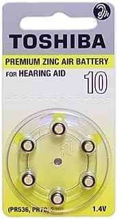 Toshiba Hearing Aid Batteries Size 10, PR70, (60 Batteries)