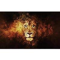 LWY ユダの抽象キャンバスアートポスターとプリント壁に大きなライオンの頭の動物の絵画北欧のアート写真写真-60X100Cmフレームなし