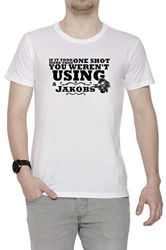 You Werent Using A Jakobs! Hombre Camiseta Cuello Redondo Blanco Manga Corta...