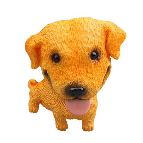 Imán para nevera, diseño de perro, personaje magnético, muñeca de animal, para nevera, pizarra blanca, adhesivo para decoración del hogar (D, 6 x 4 x 3 cm)