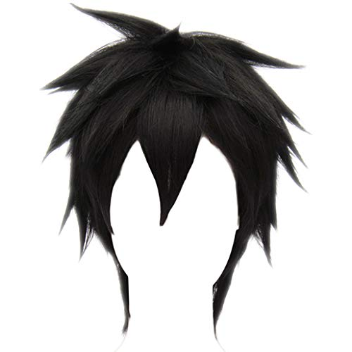 MSHUI Anime Movie Big Hero 6 Hiro Hamada Costume Cosplay Wig Black Short Hair