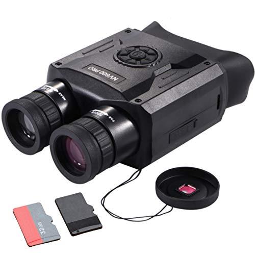 LUXUN NV600 PRO - Prismáticos de visión nocturna impermeables y tarjeta SD de 16 GB gratis, visión nocturna infrarroja, resolución 3200 x 1800, gafas de visión nocturna con zoom de 5 x 35