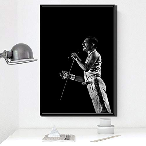 Zhuhuimin druk poster muzikant rok band legende zanger pop schilderij muurkunst thuisdecoratie 50 x 70 cm (zonder lijst)