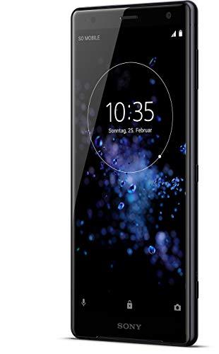 Sony Xperia XZ2 Smartphone (14,5 cm (5,7 Zoll) IPS Full HD+ Bildschirm, 64 GB interner Speicher & 4 GB RAM, Dual-SIM, IP68, Android 8.0) Liquid Black - Deutsche Version