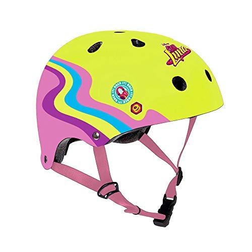 Disney Soy Luna, Casco da Ciclismo Bambina, Giallo, M (54-58cm)