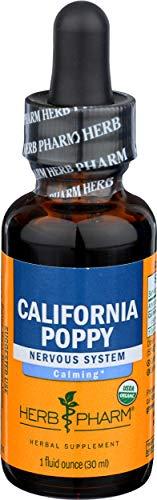 HERB PHARM Organic California Poppy Extract, 1 FZ