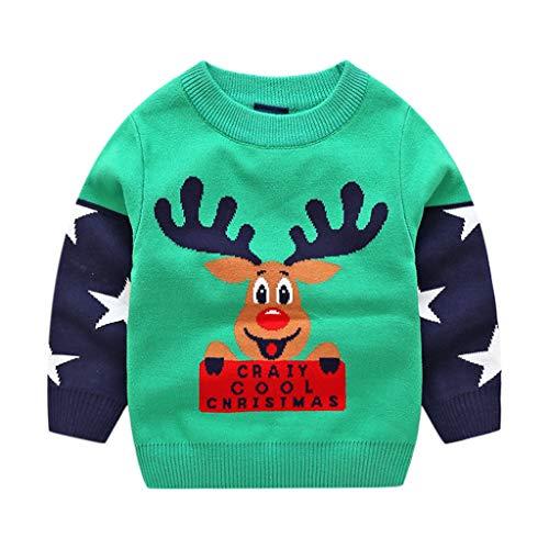 Bambini Natale Maglione Inverno Pullover a Maglia...