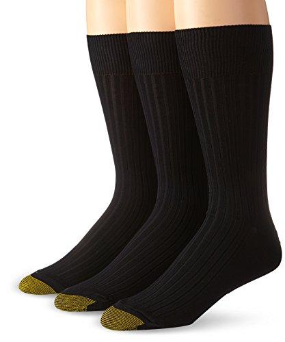 Gold Toe Herren Classic Canterbury Crew Socken, 3 Paar - Schwarz -