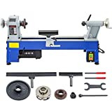 Mophorn 10 x 18 Inch Variable Speed Benchtop Mini Wood Lathe & Variable Speed 500-3200RPM & Rubber Feet (10 x 18 Inch)