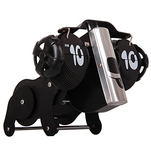 LLSL Reloj de Flip mecánico de Forma de Perro, Reloj de Mesa de Metal para niños, Adornos Personalizados para niños, Regalos para niños creativos
