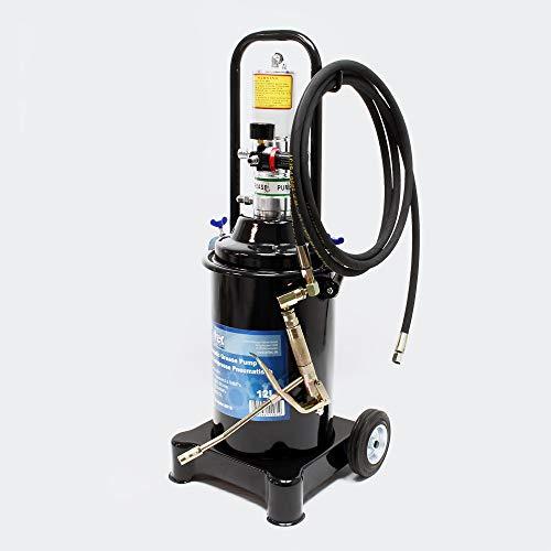 Profi Fettpresse fahrbar mit Druckluft betrieben und 12 Liter Tank pneumatische Abschmierpresse