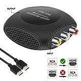 AMANKA Mini AV a HDMI Convertidor, RCA a HDMI Adaptador Compuesto CVBS Transformar Señal Audio y Vídeo Soporte 1080P con HDMI Cable para PC/Laptop/Xbox / PS4 / PS3 /TV/STB/VHS/VCR Cámara DVD