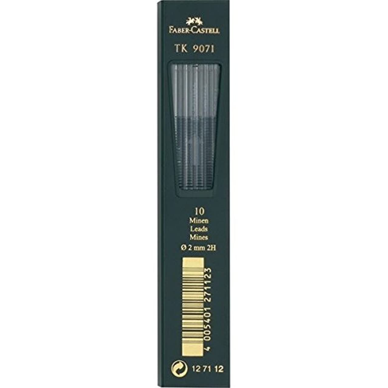 Faber-Castell TK 9400 Clutch Drawing Pencil Leads 2H pack of 10