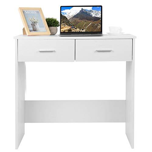 Pissente - Scrivania multiuso per computer con cassetto, scrivania angolare piccolo tavolo per studio, scrivania pc fisso 80 x 40 x 75 cm, portata massima 100 kg