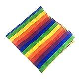 Youliy Bandana colorida, unisex, diseño de rayas, arcoíris, para bailar, cuello cuadrado, corbata, bufanda, fiesta, desfile, suministros para celebraciones