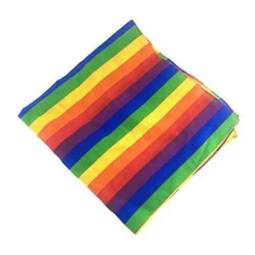 RG-FA - Bandana unisex con diseño de rayas de arco iris, estilo hip hop, para bailar, corbata de cuello cuadrado, gay, lesbianas, fiestas, desfiles, celebraciones a