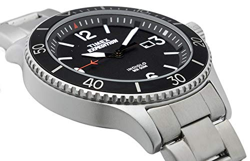 Timex Men's Expedition Ranger Black Dial with a Stainless Steel Bracelet Watch TW4B10900