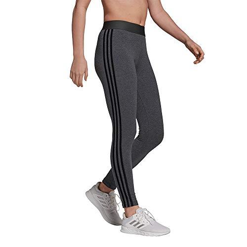 adidas GV6019 W 3S Leg Leggings Womens Dark Grey Heather Black S