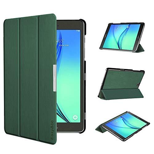 EasyAcc Ultra Slim Hülle für Samsung Galaxy Tab A 9.7 - mit Standfunktion & Automatischem Schlaf Funktion PU Leder Hülle - Dunkelgrün