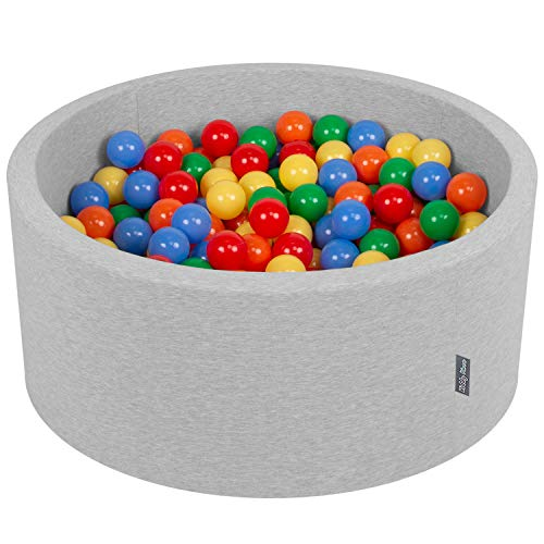 KiddyMoon 90X40cm/300 Palline ∅ 7CM Piscina di...