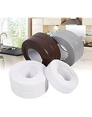 Zelfklevende afdichtband, 2 stuks, badkuipafdichting voor keuken, voor de rand van de gootsteen, toilet, badkuip, wastafel en wand (22 mm x 3,2 m, wit)