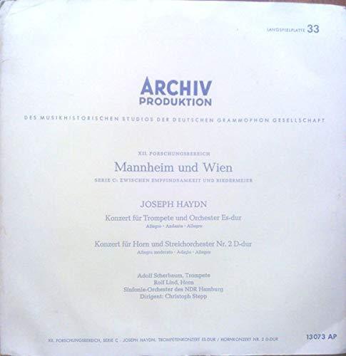 Konzert Für Trompete Und Orchester Es-dur / Konzert Für Horn Und Streichorchester Nr. 2 D-dur