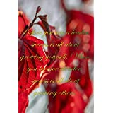 """Red leaves : Before you are a leader, success is all about growing yourself. When you become aleader, success is all about growing others: 6 x 9"""" Notebook to Write In with 110 Lined College Ruled Pages beautiful design"""