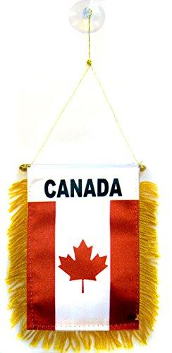 AZ FLAG Wimpel Kanada 15x10cm - KANADISCHE Mini Flagge 10 x 15 cm - Auto Pennant spezielle Auto