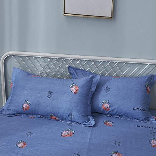 HNLHLY 1 paar kussenslopen van katoen-keperstof voor eenpersoonsbed, 48 x 74 cm